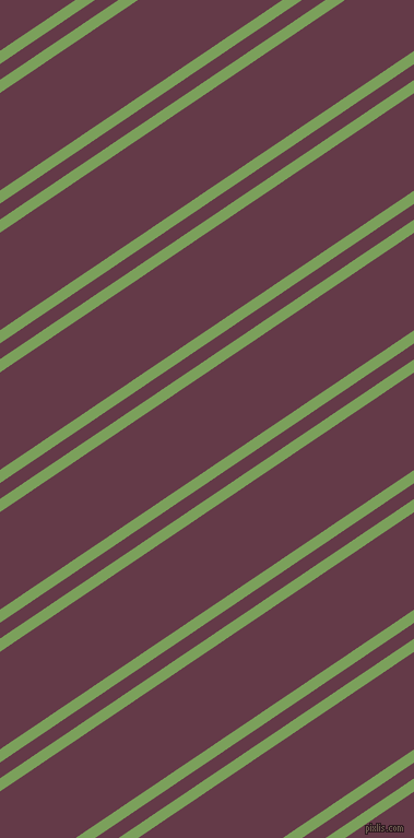 34 degree angles dual striped lines, 10 pixel lines width, 12 and 74 pixels line spacing, Asparagus and Tawny Port dual two line striped seamless tileable