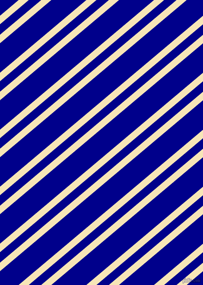 40 degree angle dual striped line, 13 pixel line width, 16 and 45 pixel line spacing, Barley White and Dark Blue dual two line striped seamless tileable