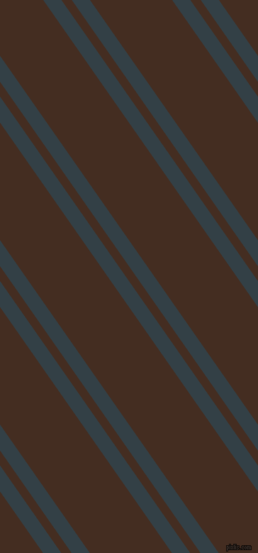 125 degree angles dual striped line, 21 pixel line width, 12 and 95 pixels line spacing, Big Stone and Morocco Brown dual two line striped seamless tileable