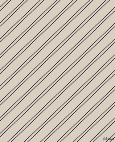 44 degree angle dual stripe lines, 2 pixel lines width, 6 and 27 pixel line spacing, Black Marlin and Blanc dual two line striped seamless tileable