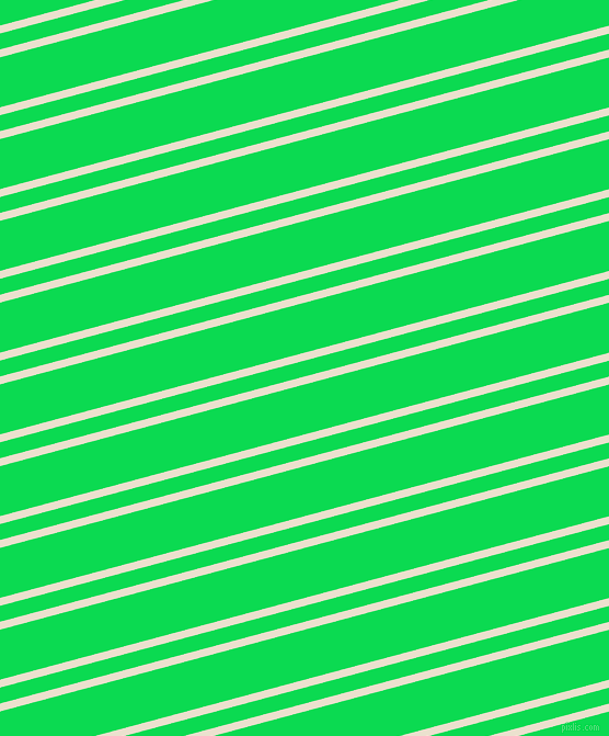 15 degree angles dual stripe line, 7 pixel line width, 14 and 44 pixels line spacing, Bleach White and Malachite dual two line striped seamless tileable