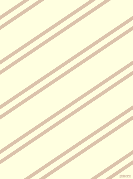 34 degree angle dual striped line, 11 pixel line width, 16 and 81 pixel line spacing, Bone and Light Yellow dual two line striped seamless tileable