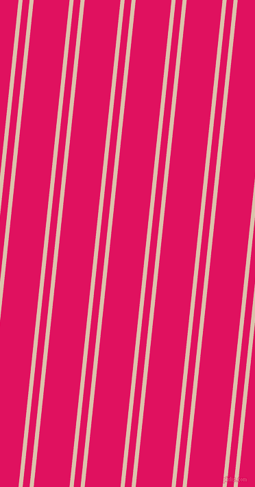 84 degree angles dual striped lines, 6 pixel lines width, 10 and 52 pixels line spacing, Bone and Ruby dual two line striped seamless tileable