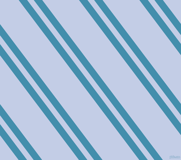 127 degree angle dual stripe line, 23 pixel line width, 18 and 100 pixel line spacing, Boston Blue and Periwinkle dual two line striped seamless tileable