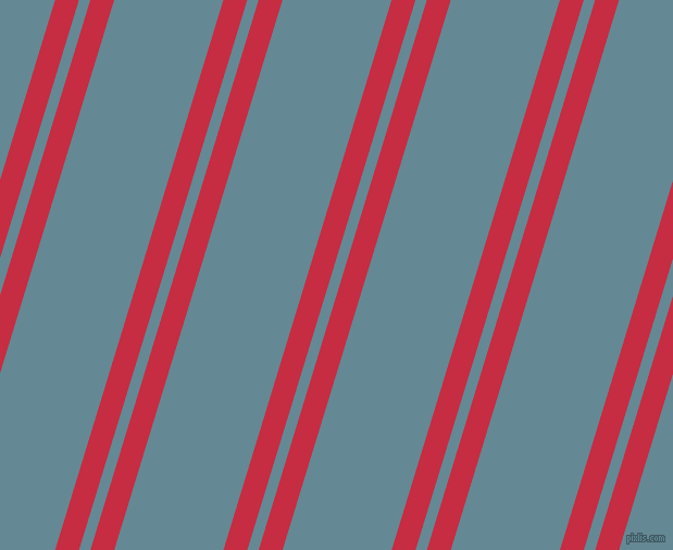 73 degree angle dual striped line, 21 pixel line width, 10 and 96 pixel line spacing, Brick Red and Horizon dual two line striped seamless tileable