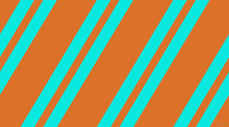 59 degree angle dual stripes lines, 41 pixel lines width, 26 and 118 pixel line spacing, Bright Turquoise and Tahiti Gold dual two line striped seamless tileable
