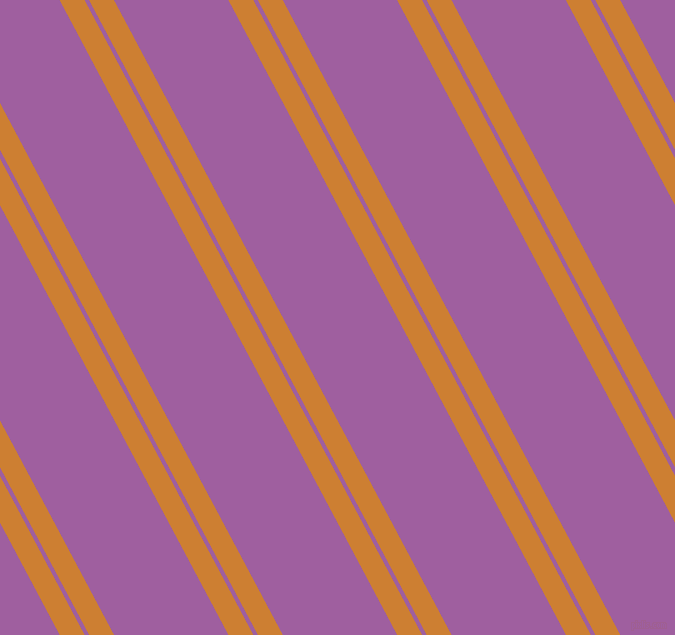118 degree angle dual stripes lines, 22 pixel lines width, 4 and 101 pixel line spacing, Bronze and Violet Blue dual two line striped seamless tileable