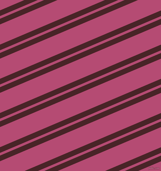 23 degree angles dual striped line, 17 pixel line width, 8 and 60 pixels line spacing, Bulgarian Rose and Royal Heath dual two line striped seamless tileable