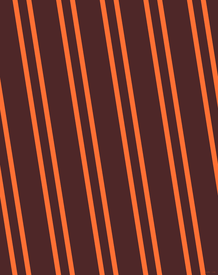 99 degree angle dual striped lines, 17 pixel lines width, 30 and 84 pixel line spacing, Burnt Orange and Volcano dual two line striped seamless tileable