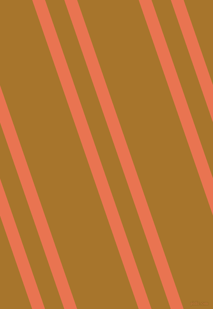 109 degree angle dual stripes lines, 24 pixel lines width, 36 and 115 pixel line spacing, Burnt Sienna and Hot Toddy dual two line striped seamless tileable