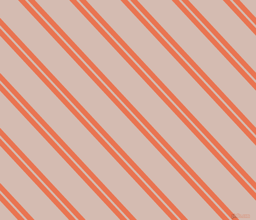 133 degree angles dual striped line, 10 pixel line width, 4 and 50 pixels line spacing, Burnt Sienna and Wafer dual two line striped seamless tileable