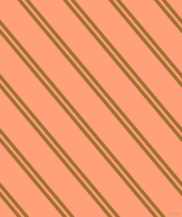 130 degree angle dual striped lines, 11 pixel lines width, 8 and 83 pixel line spacing, Buttered Rum and Light Salmon dual two line striped seamless tileable