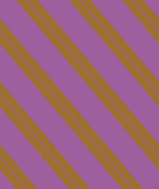 130 degree angle dual stripe lines, 32 pixel lines width, 4 and 100 pixel line spacing, Buttered Rum and Violet Blue dual two line striped seamless tileable