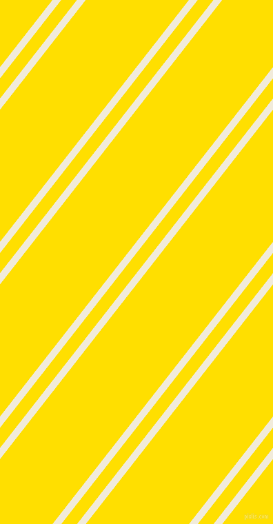 52 degree angles dual stripes line, 10 pixel line width, 18 and 118 pixels line spacing, Buttery White and Golden Yellow dual two line striped seamless tileable