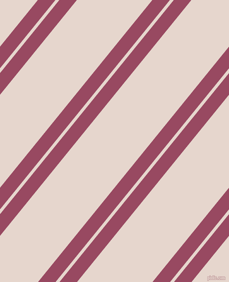 51 degree angle dual stripe line, 27 pixel line width, 6 and 116 pixel line spacing, Cadillac and Dawn Pink dual two line striped seamless tileable