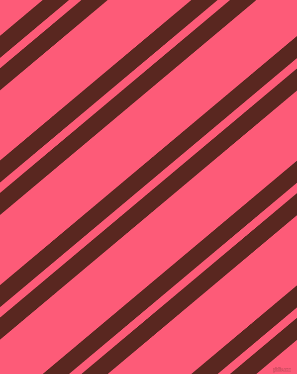 40 degree angles dual striped lines, 34 pixel lines width, 16 and 108 pixels line spacing, Caput Mortuum and Wild Watermelon dual two line striped seamless tileable