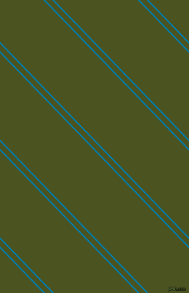 134 degree angles dual striped lines, 3 pixel lines width, 10 and 122 pixels line spacing, Cerulean and Army green dual two line striped seamless tileable