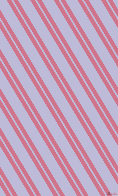 121 degree angle dual stripe lines, 14 pixel lines width, 6 and 37 pixel line spacing, Charm and Lavender Grey dual two line striped seamless tileable