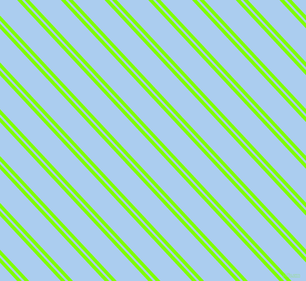 133 degree angle dual striped line, 7 pixel line width, 4 and 47 pixel line spacing, Chartreuse and Pale Cornflower Blue dual two line striped seamless tileable