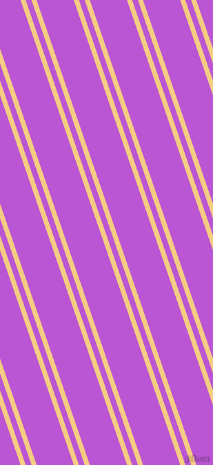 109 degree angles dual stripe line, 7 pixel line width, 8 and 51 pixels line spacing, Cherokee and Medium Orchid dual two line striped seamless tileable
