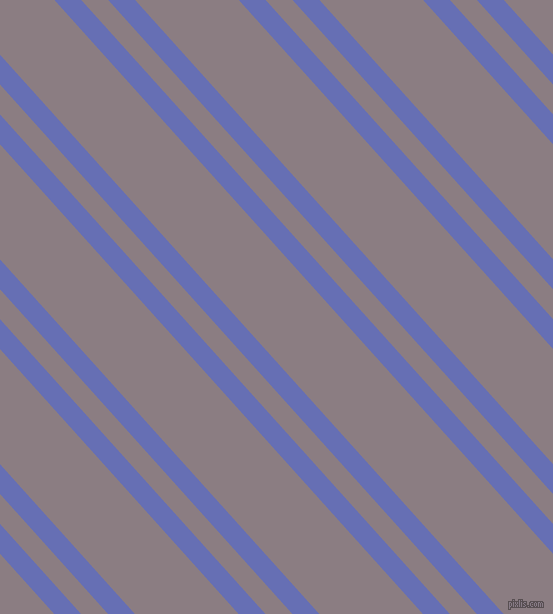 132 degree angle dual stripe line, 20 pixel line width, 20 and 77 pixel line spacing, Chetwode Blue and Venus dual two line striped seamless tileable