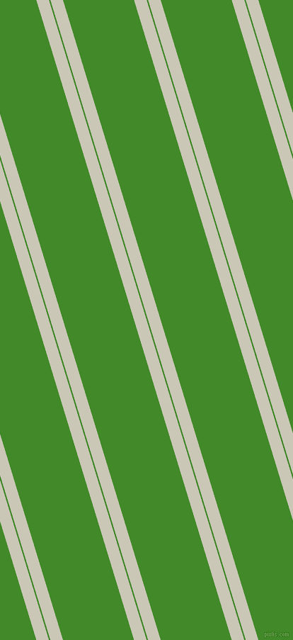 107 degree angles dual stripes lines, 17 pixel lines width, 2 and 96 pixels line spacing, Chrome White and La Palma dual two line striped seamless tileable
