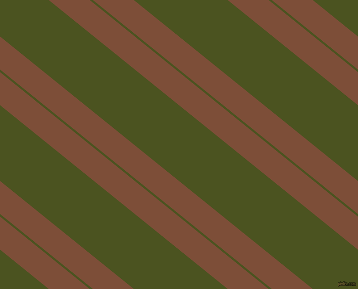 141 degree angles dual stripe lines, 51 pixel lines width, 4 and 117 pixels line spacing, Cigar and Army green dual two line striped seamless tileable