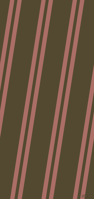 81 degree angles dual striped lines, 14 pixel lines width, 10 and 64 pixels line spacing, Coral Tree and Punga dual two line striped seamless tileable