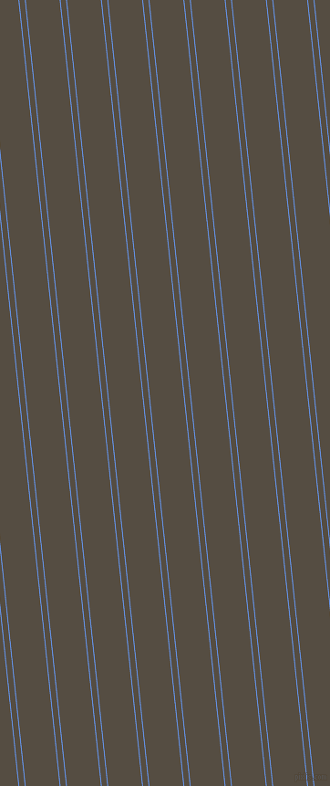 96 degree angle dual stripes line, 1 pixel line width, 6 and 37 pixel line spacing, Cornflower Blue and Mondo dual two line striped seamless tileable