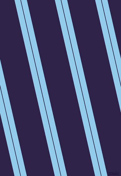 103 degree angle dual striped line, 20 pixel line width, 2 and 95 pixel line spacing, Cornflower and Violent Violet dual two line striped seamless tileable