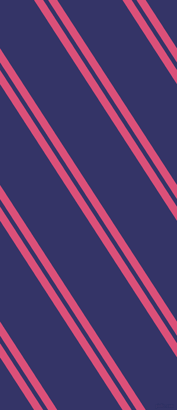 123 degree angle dual striped lines, 15 pixel lines width, 8 and 107 pixel line spacing, Cranberry and Deep Koamaru dual two line striped seamless tileable