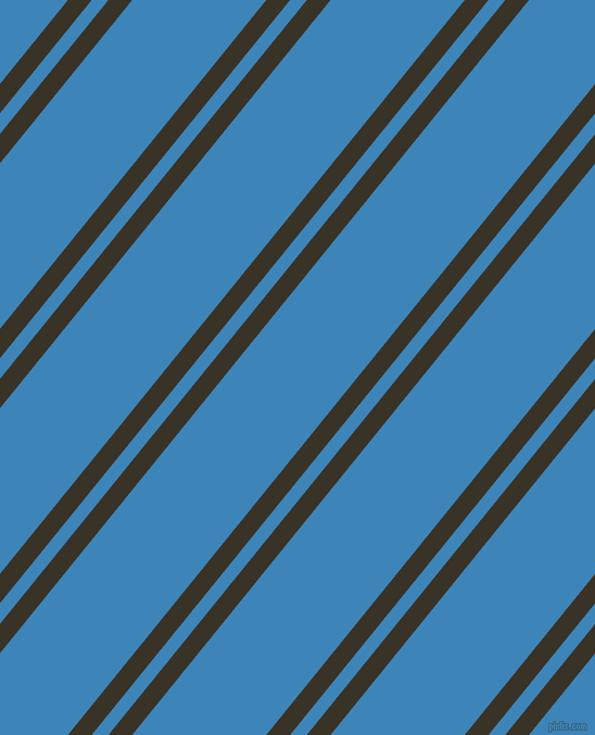 51 degree angles dual stripe lines, 17 pixel lines width, 12 and 96 pixels line spacing, Creole and Curious Blue dual two line striped seamless tileable