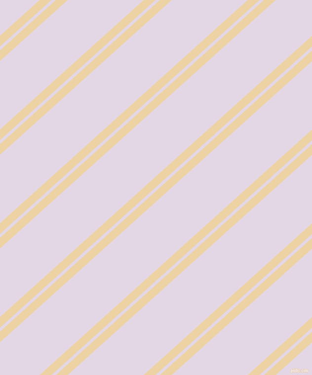 42 degree angles dual striped lines, 16 pixel lines width, 6 and 103 pixels line spacing, Dairy Cream and Snuff dual two line striped seamless tileable
