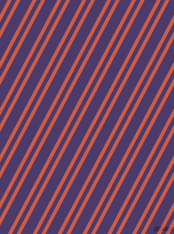 62 degree angles dual stripe line, 7 pixel line width, 8 and 21 pixels line spacing, Dark Coral and Meteorite dual two line striped seamless tileable
