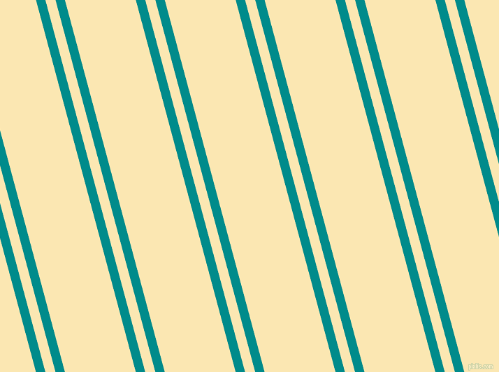 105 degree angle dual stripe lines, 13 pixel lines width, 14 and 98 pixel line spacing, Dark Cyan and Banana Mania dual two line striped seamless tileable
