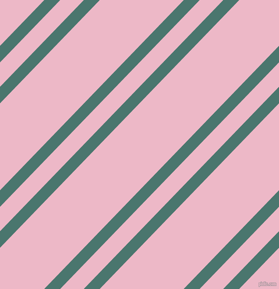 46 degree angles dual stripe line, 23 pixel line width, 34 and 121 pixels line spacing, Dark Green Copper and Chantilly dual two line striped seamless tileable