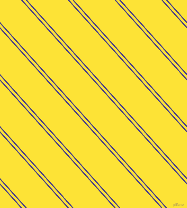 132 degree angle dual stripes lines, 4 pixel lines width, 8 and 105 pixel line spacing, Dark Slate Blue and Gorse dual two line striped seamless tileable
