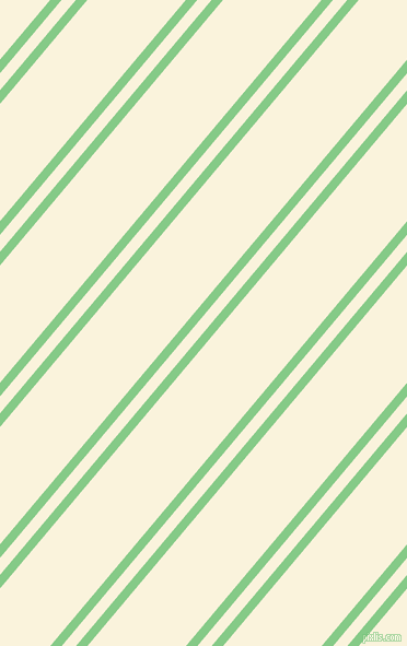 50 degree angles dual stripes line, 8 pixel line width, 10 and 69 pixels line spacing, De York and Off Yellow dual two line striped seamless tileable