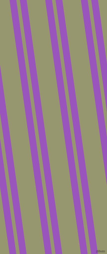 98 degree angles dual stripe lines, 27 pixel lines width, 14 and 74 pixels line spacing, Deep Lilac and Malachite Green dual two line striped seamless tileable