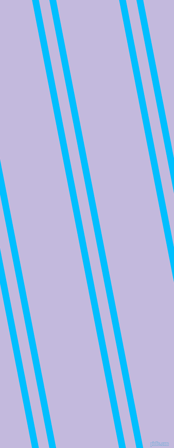 101 degree angle dual striped line, 13 pixel line width, 20 and 120 pixel line spacing, Deep Sky Blue and Melrose dual two line striped seamless tileable