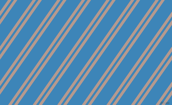 55 degree angle dual striped line, 11 pixel line width, 8 and 49 pixel line spacing, Del Rio and Curious Blue dual two line striped seamless tileable