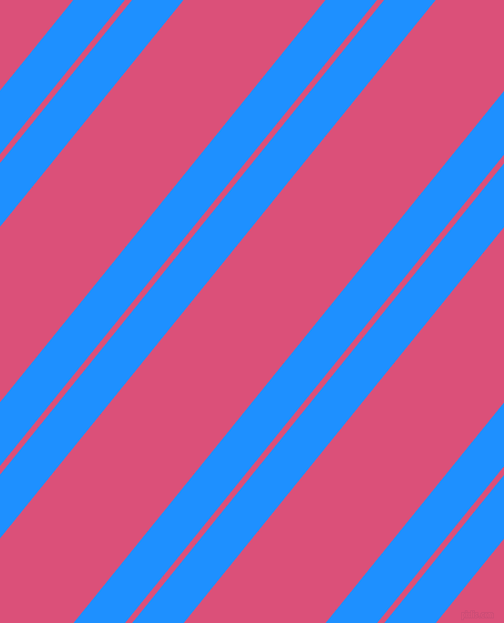51 degree angle dual stripes lines, 44 pixel lines width, 6 and 121 pixel line spacing, Dodger Blue and Cranberry dual two line striped seamless tileable