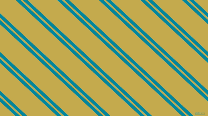 137 degree angle dual striped line, 11 pixel line width, 6 and 71 pixel line spacing, Eastern Blue and Sundance dual two line striped seamless tileable
