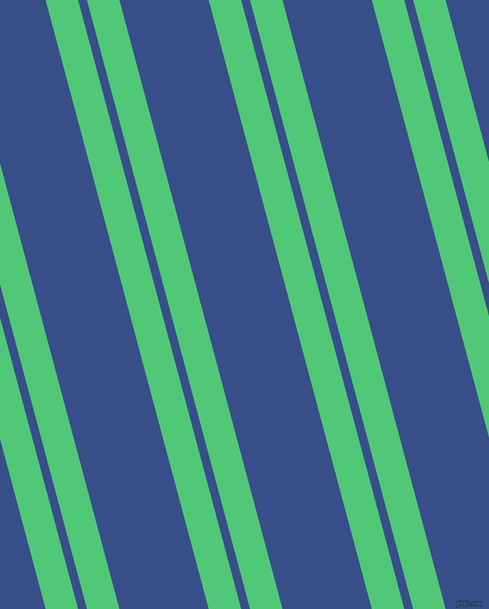 105 degree angles dual striped lines, 44 pixel lines width, 12 and 121 pixels line spacing, Emerald and Tory Blue dual two line striped seamless tileable