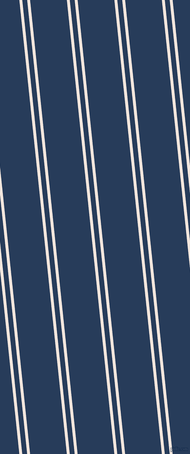 96 degree angle dual striped lines, 6 pixel lines width, 10 and 75 pixel line spacing, Fantasy and Catalina Blue dual two line striped seamless tileable