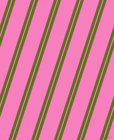 72 degree angles dual stripes line, 12 pixel line width, 4 and 61 pixels line spacing, Fiji Green and Persian Pink dual two line striped seamless tileable