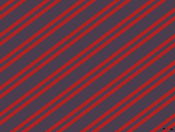37 degree angles dual stripes line, 14 pixel line width, 12 and 41 pixels line spacing, Fire Brick and Bossanova dual two line striped seamless tileable