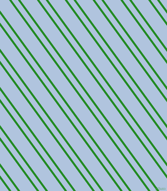 126 degree angle dual stripes line, 7 pixel line width, 18 and 47 pixel line spacing, Forest Green and Light Steel Blue dual two line striped seamless tileable