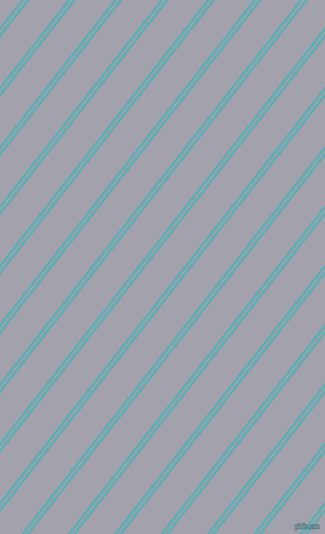 52 degree angles dual striped line, 4 pixel line width, 2 and 43 pixels line spacing, Fountain Blue and Spun Pearl dual two line striped seamless tileable