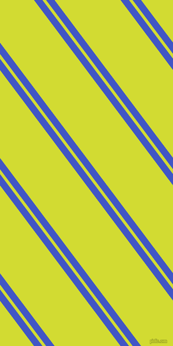 127 degree angles dual stripes line, 14 pixel line width, 6 and 109 pixels line spacing, Free Speech Blue and Bitter Lemon dual two line striped seamless tileable